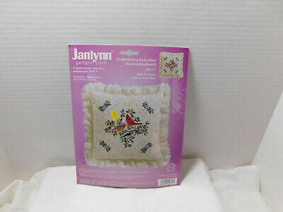 Candlewicking Embroidery Birds & Berries Kit Pillow