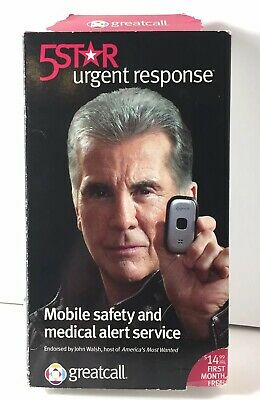 GreatCall 5 Star Urgent Response Safety & Medical 911 GPS Alert Service Open Box