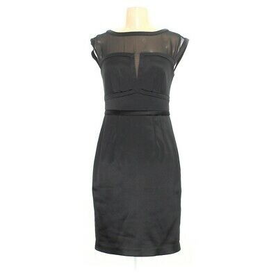 The Limited Scandal Collection Womens Small Black Sheath Pencil Dress Stretch