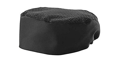 3 Pack Black Pill Box Style Chef Hat Elastic Closure - Regular Size