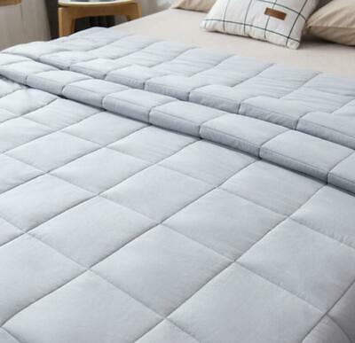 New Comfortable Weighted Blanket Reduce Stress Glass Beads Promote Deep Sleep