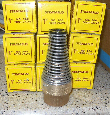 "1"" Brass Strataflo Foot Valve No 200 New ununsed"