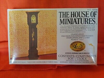 Vtg House of Miniatures Doll No.40018 William and Mary Tall Case Clock NIB