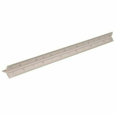 SOLID ALUMINIUM SCALE RULE 320MM ARCHITECT ENGINEERS SCALE DRAWING RULER S731001