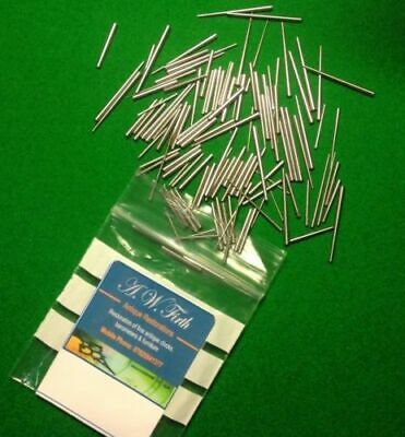 Pack of 100 Steel tapered pins for use in Antique clock repair.Fantastic Quality