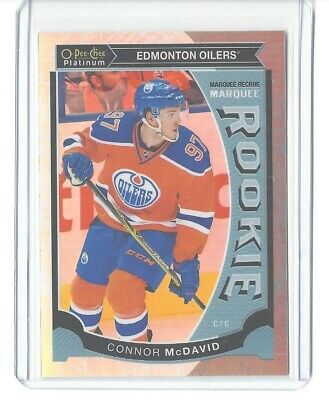2015-16 O-Pee-Chee Platinum Connor Mcdavid White Ice Marquee Rookie #/199 Sp Rc