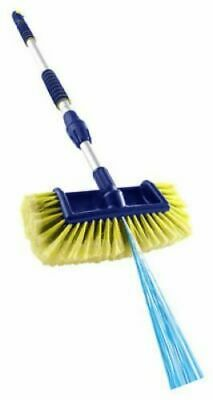 Streetwize SWCWB Deluxe Telescopic Wash Brush with Rubber Squeegee 1.8 m