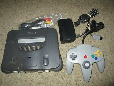 Nintendo 64 Charcoal Grey Console System Tested Guaranteed