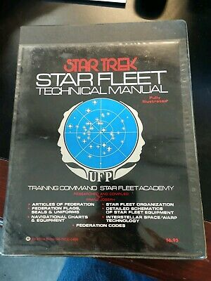 Star Trek: Star Fleet Technical Manual Hard Cover plastic wraps (1976) HC