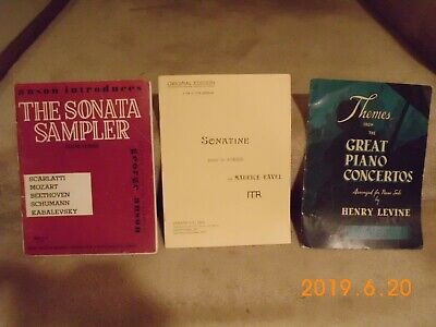 Classical Piano Music Books - Lot of 3