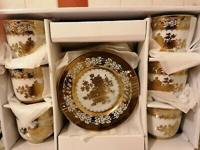 Set Of 12 Piece Gold plated Tea,Coffee Cup & Saucers Set