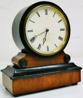 Wonderful Antique French Tic Tac Escapement Walnut & Ebony Mantel Carriage Clock