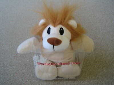 NO RESERVE Vintage Microwave Cuddly Heat Pack Pet Lion with Lavender Aroma BNIB