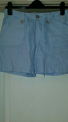 New Size 8 Baby Blue Linen Shorts