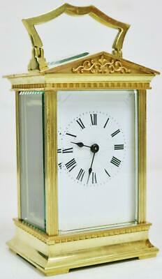 Antique French 8 Day Original Platform Architectural Timepiece Carriage Clock