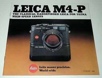 Leica M4-P  Dealer Booklet In Near Perfect Condition.
