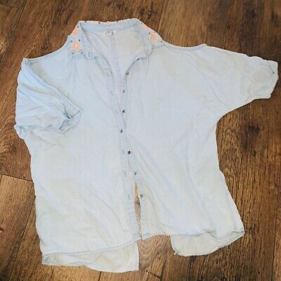 River Island Cold Shouder Girls Shirt/Blouse Age 11
