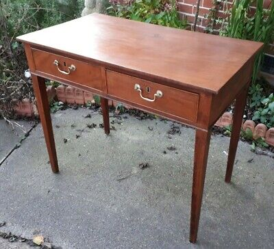 Antique Solid Mahogany Georgian Desk - Hall Table DELIVERY POSSIBLE