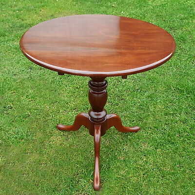 Georgian Style Mahogany Flip-Top Tripod Supper Side Lamp Table