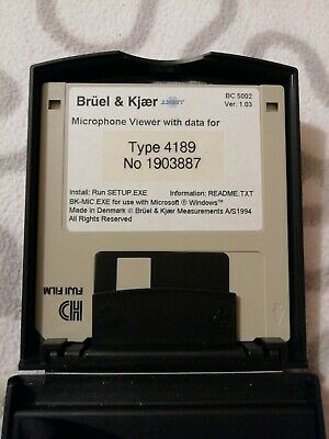 Bruel And Kjaer Microphone Viewer With Data For Type 4189 No 1903887