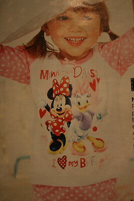 LOVELY BRAND NEW GIRLS MINNIE MOUSE & DAISY DUCK PJS AGE 4-5yrs FROM AVON