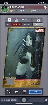 Topps Marvel Collect Digital X-23 Gold X-Men Weekly Diecut