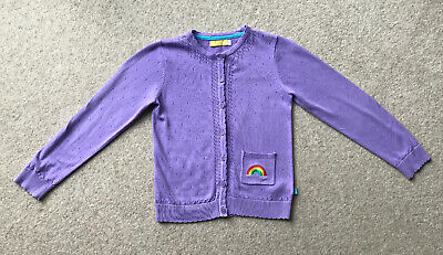 Girls Jools Oliver Little Bird Cardigan With Rainbow Embroidery Age 7-8 Years