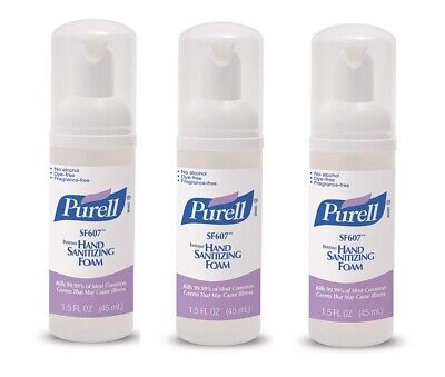 Purell SF607 Hand Sanitizer Foam Alcohol Free 45 mL (Pack of 3)