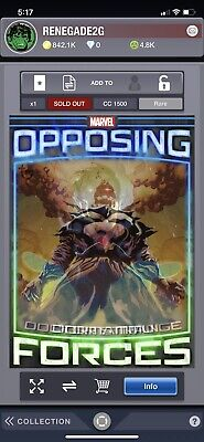 Marvel Topps Collect Opposing Forces Doctor Strange vs. Dormammu (1500cc)