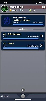 TOPPS MARVEL COLLECT CARD TRADER 8-BIT AVENGERS [COMPLETE SET With Awards]
