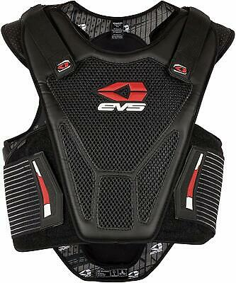 EVS Street Bike Sport Vest Chest Back Protector Armor Storage Hump Black S/M