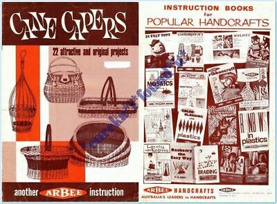 ARBEE VINTAGE CRAFT BOOK CANE CAPERS : 22 PROJECTS : circa 1960's