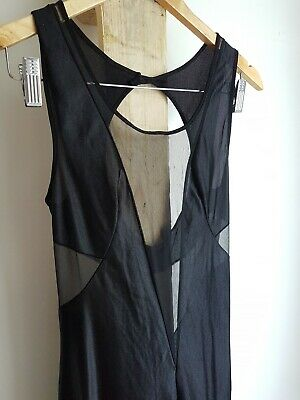 Black Vintage Sheer Cutout Full Length Nightie