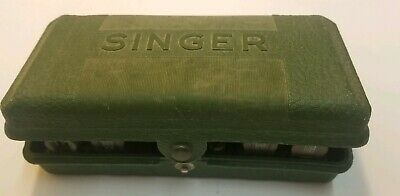 Singer Button hole attachment 160506 complete, w/8 templates, plate, case  vtg