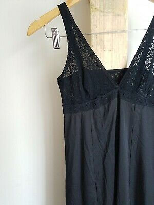 Black Vintage Black Lace Summer Nightie