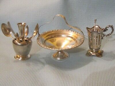 Mixed lot of Antiques Sterling Silver Items.