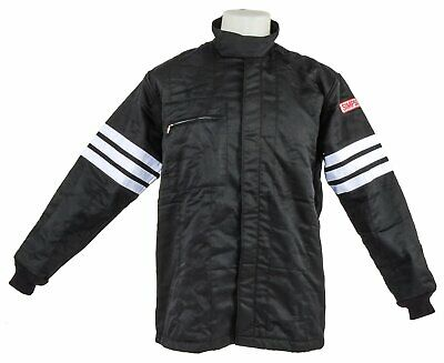 Simpson 0302412 Classic 3-Stripe Jacket SFI 3.2A/1 Rated Black XLarge