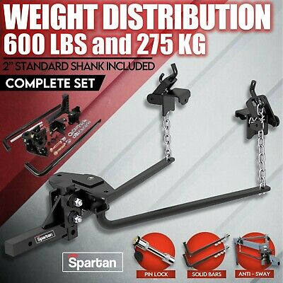 600LB Weight Distribution Hitch System ANTI SWAY Bars Load Leveller Caravan
