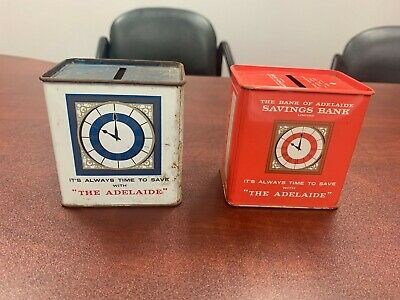 The Bank of Adelaide Savings Bank Tin Money Box