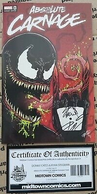 Absolute Carnage #1 Midtown Variant SIGNED by Donny Cates and Ryan Stegman