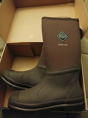 New Muck Boots CHCT-900 Chore Cool High Work Mud Tall Brown Mens 12 Womens 13