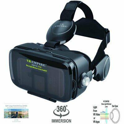 VR Headset Virtual Reality Headset with 120° FOV & Anti-Blue-Light Lens