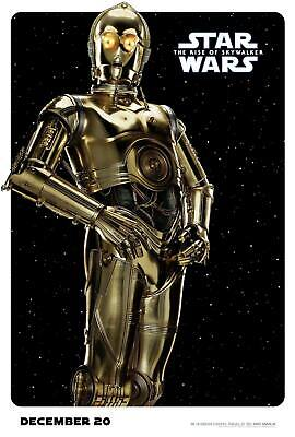 CA34 C-3PO Star Wars Movie The Rise of Skywalker Silk Art Poster 40 24x36