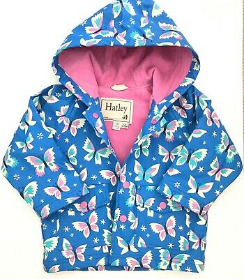 HATLEY baby girls raincoat 12-18 months branded outerwear hooded jacket EUC
