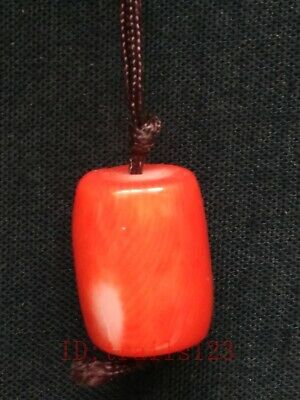 Unique Collection Old Chinese Natural Coral Hand Carving Pendant Wonderful Gift