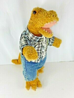 Build a Bear Brown TREX Dinosaur + Clothes Stuffed Plush Jeans - Retired - BABW