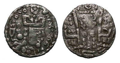 "(10728) ""Bukhar Hudat"" Bl drachm with name of Mohammad."