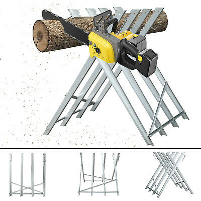 Sawhorse Foldable Heavy Duty Metal Steel construction Saw horse Log Holder