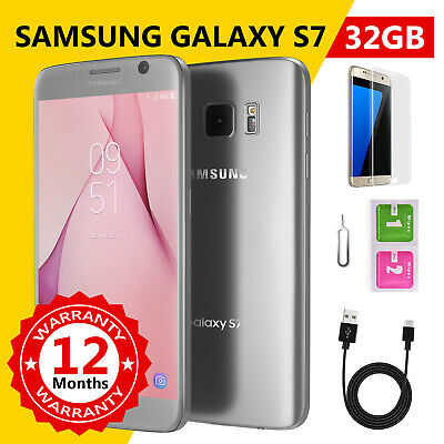 Samsung Galaxy S7 32GB Android Unlocked Mobile Phone Sim Free Silver