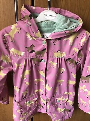 HATLEY PINK RAINCOAT WITH HORSES PRINT AGE 7 Years